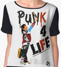 "Punky ""Punk 4 Life"" Brewster Women's Chiffon Top"