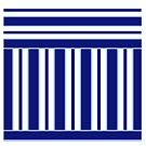 Navy and Powder Blue Stripes by Greenbaby