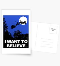 I Want To Believe In Santa Postcards