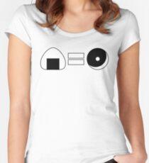 Onigiri = Donut Women's Fitted Scoop T-Shirt