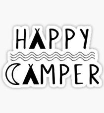 Happy Camper | Camping | Tribal Print Design Sticker