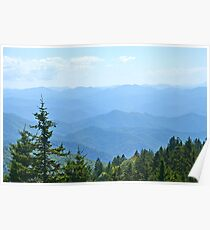 Blue Ridge Mountains - horizontal Poster