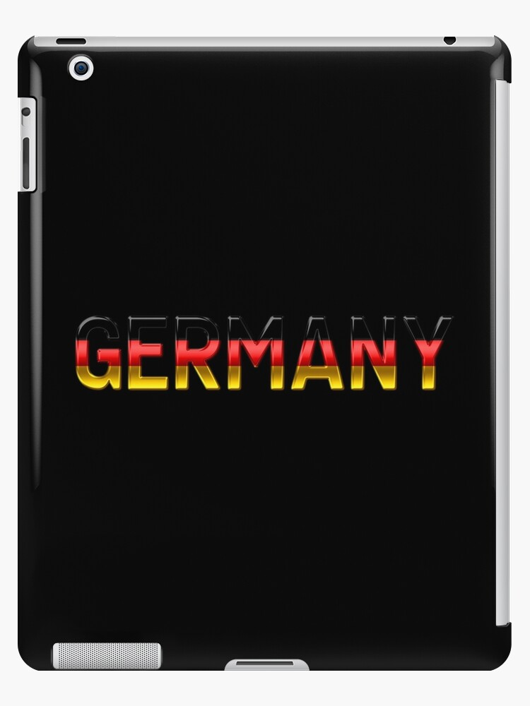 Germany - German Flag - Metallic Text by graphix