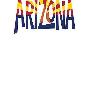 Arizona Pride - State Flag T-Shirt by coolstuffofaz