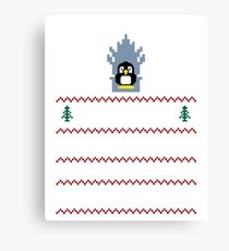 LINUX IS COMING - CHRISTMAS SWEATER Canvas Print