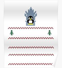 LINUX IS COMING - CHRISTMAS SWEATER Poster
