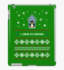 LINUX IS COMING - CHRISTMAS SWEATER iPad Case/Skin