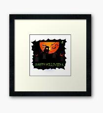 Holloween design Framed Print