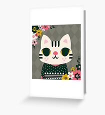 Cat in a Sweater Greeting Card