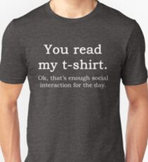 Funny Sarcastic English Quote Read My T-Shirt Graphic Tee T-Shirt