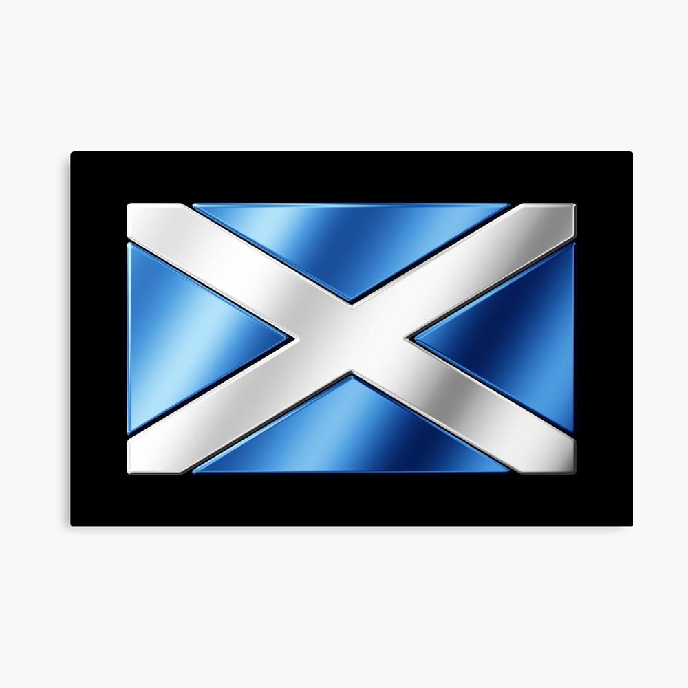 Écosse Drapeau Aspect Vieilli Métal Signe D/'Étain mur Signe 8x6 pouces écossais
