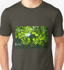 Green maple leaves backlight T-Shirt