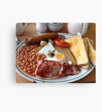 British Fried Breakfast Canvas Print
