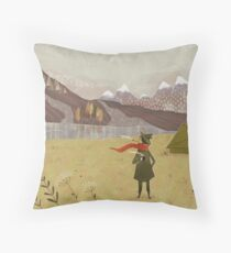 far away from the Moomin valley  Throw Pillow