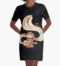 Guitar Girl  Graphic T-Shirt Dress