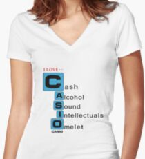 Bootleg Stuff - Casio Women's Fitted V-Neck T-Shirt