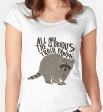 All Hail The Glorious Trash Panda Women's Fitted Scoop T-Shirt