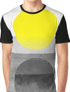 Yellow #abstract  T-shirt Graphique