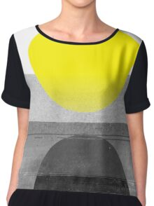 Yellow #abstract  Top mousseline femme