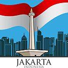 The capital city of Jakarta by Jatmika Jati