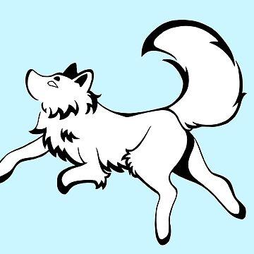 Inky Fox 2 - Black & White by WWFoxStudio