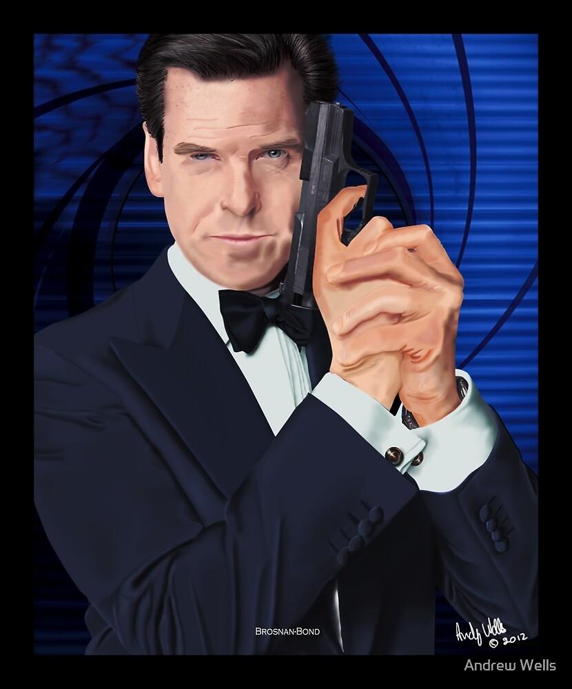 Pierce Brosnan-James Bond by Andrew Wells