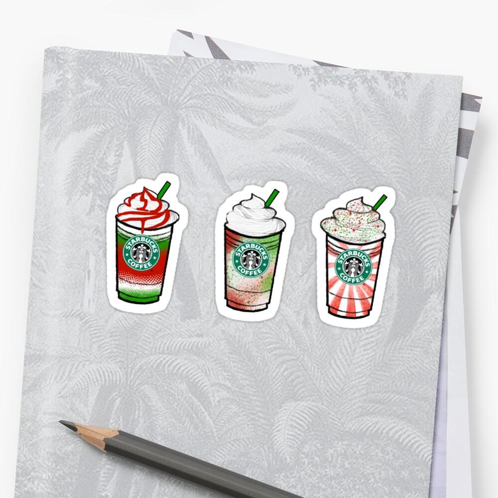Christmas Theme Starbucks Trio #2\