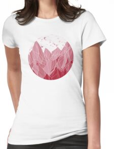 Sunset Mountain ! Womens Fitted T-Shirt
