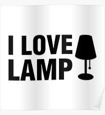 I Love Lamp Poster