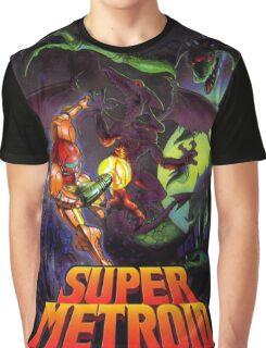 Super Metroid Nintendo Super Famicom Japanese Box Art Shirt (SNES) Graphic T-Shirt