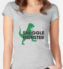 Snuggle Monster Women's Fitted Scoop T-Shirt
