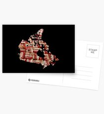 Canada - Canadian Bacon Map - Woven Strips Postcards