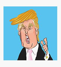 Donald Trump cartoon toon drawing funny crazy election Photographic Print