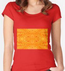 Flower petal macro pattern Women's Fitted Scoop T-Shirt