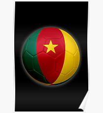 Cameroon - Cameroonian Flag - Football or Soccer 2 Poster