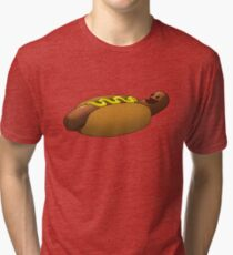 Happy Hotdog Tri-blend T-Shirt