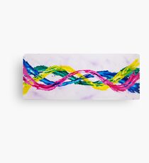 Twisted Passion - Colourful & Playful Canvas Print