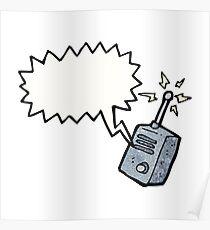 cartoon walkie talkie Poster