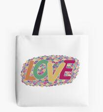 Love. Hand drawn colorful doodle illustration. Tote Bag