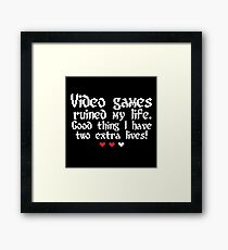 Videogame is my style! Framed Print