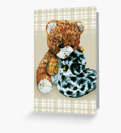 Teddy bear cuddles  Greeting Card