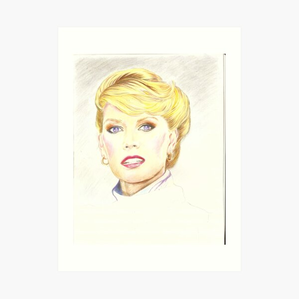 Blond with french twist Art Print