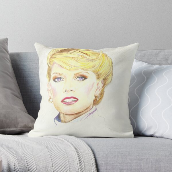 Blond with french twist Throw Pillow