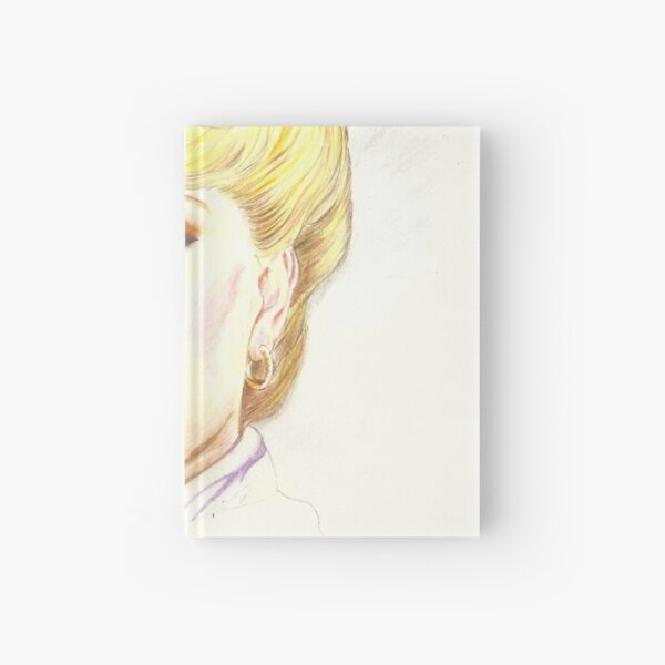 Blond with french twist Hardcover Journal