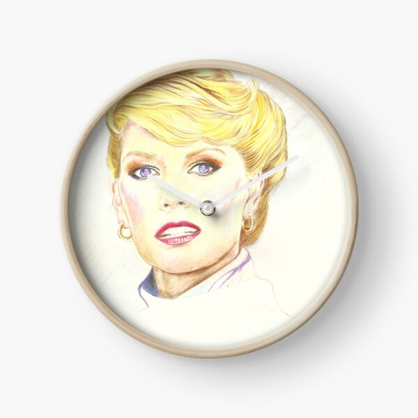 Blond with french twist Clock