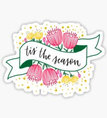 Tis the season Banner Sticker