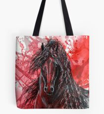 "Friesian Stallion - ""The Wizzard"" Tote Bag"
