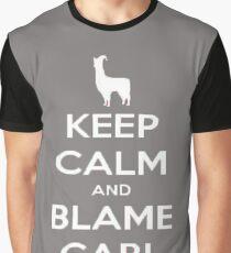 Llamas with Hats T-shirt - Keep Calm and Blame Carl Graphic T-Shirt