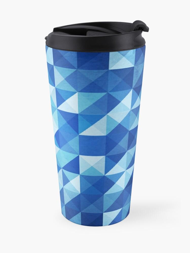 Alternate view of Blue Triangles Travel Mug