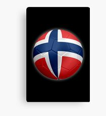 Norway - Norwegian Flag - Football or Soccer 2 Canvas Print